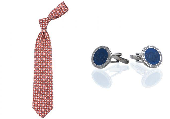 krawat i spinki do mankietów
