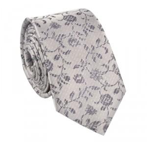 slubny-krawat-w-kwiaty-popielaty