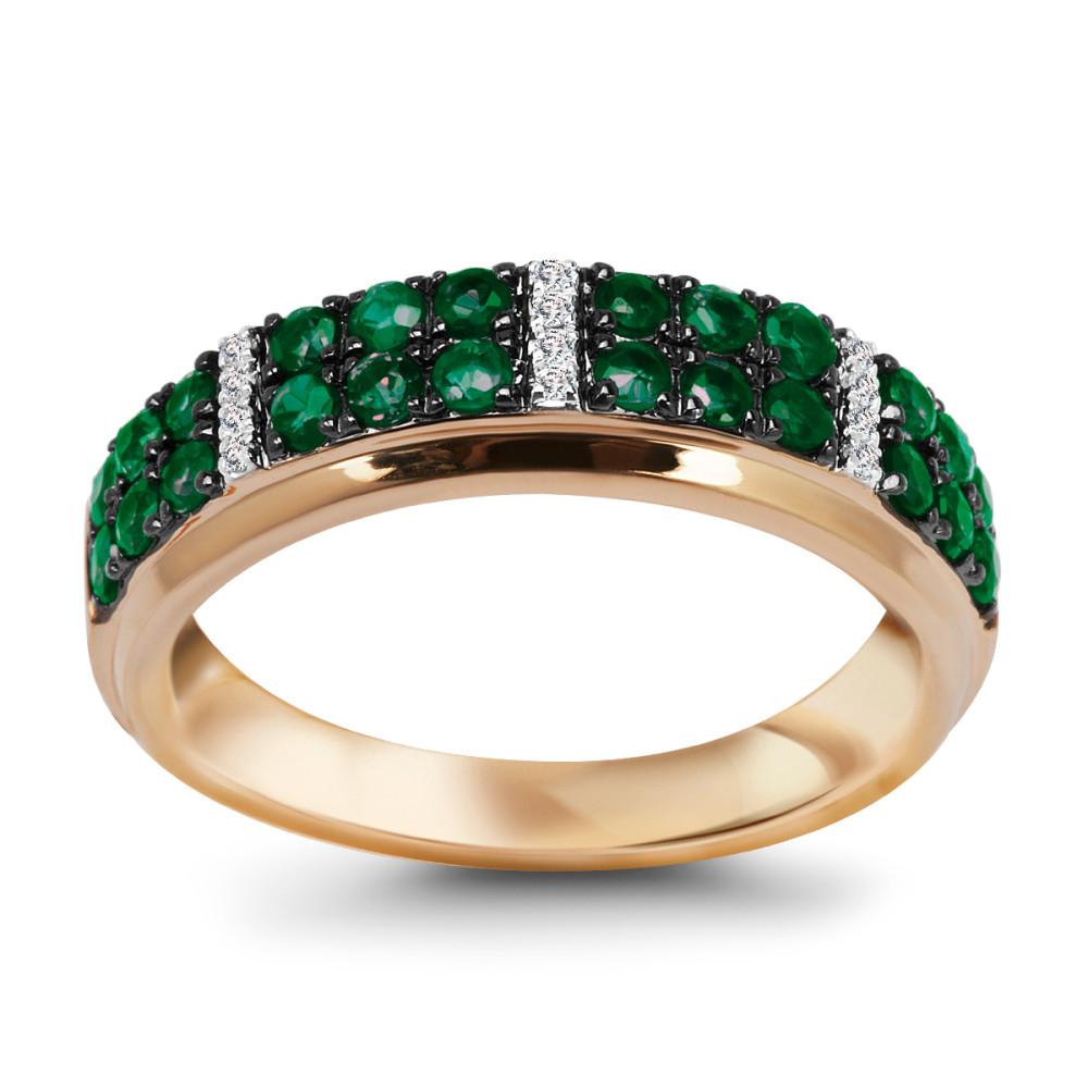 Złoty pierścionek ze szmaragdami 1795zł yes.pl