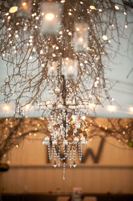 dekoracja sali zimą