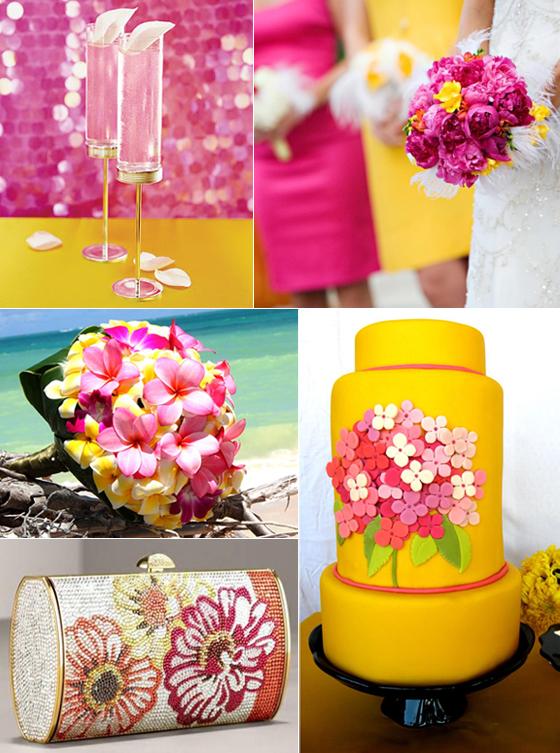 róż i żółty na wesele