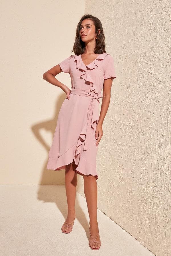 rozowa-sukienka-trendyol-midi-z-krotkim-rekawem-allani-factcool