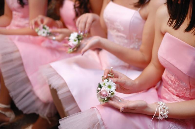 różowe druhny