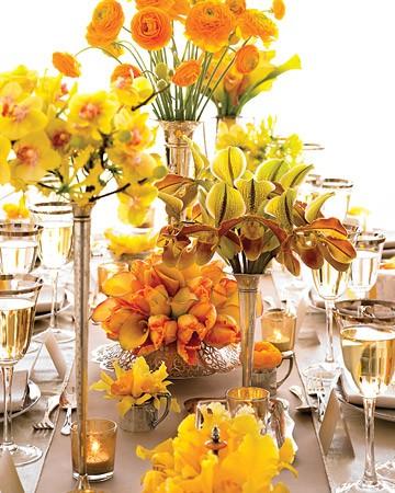 żółto-pomarańczowe kwiaty