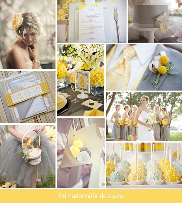 żółto szare dodatki weselne