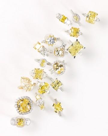 biżuteria ślubna z elementami żółtego