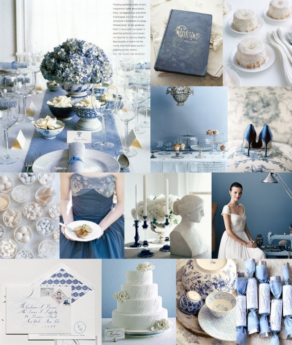niebieski jako kolor przewodni wesela