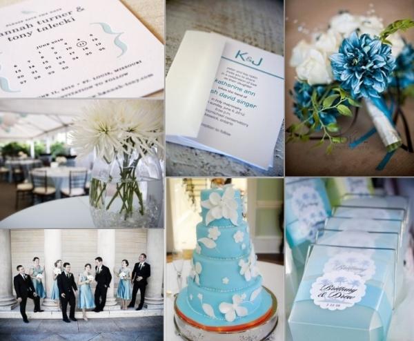 niebieskie dekoracje ślubne