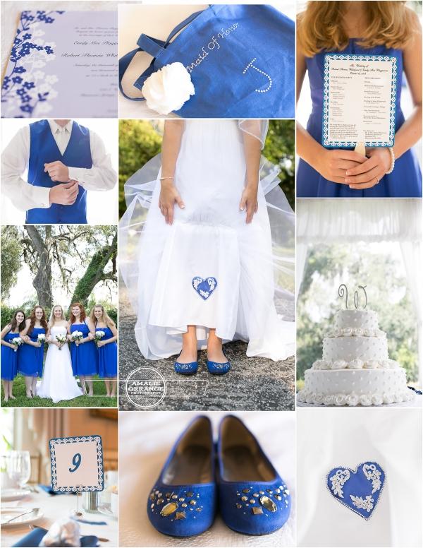 niebieskie dodatki ślubne