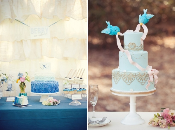 tort na niebiesko