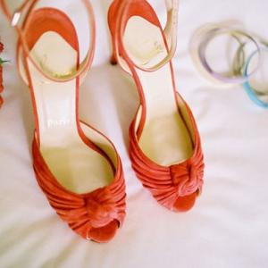 pomarańczowe buty ślubne