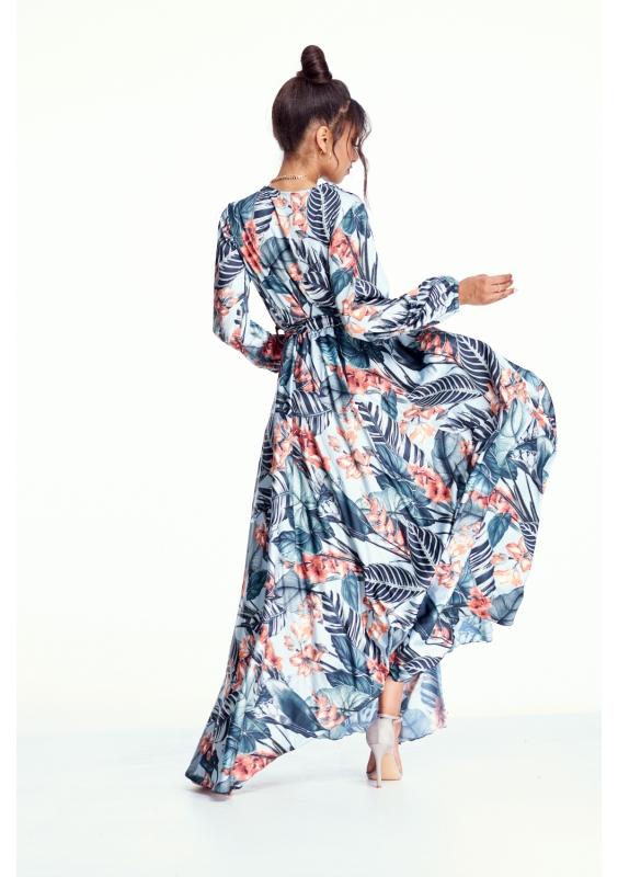 sukienka-maxi-w liście mosquito-sklep