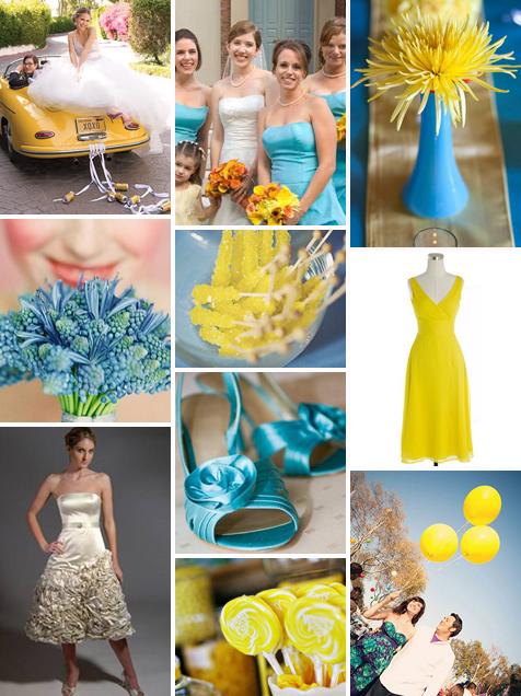 Turkusowo-żółty ślub