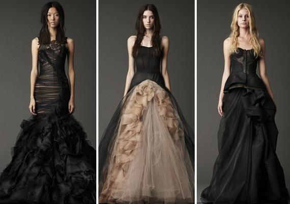 czarne suknie ślubne