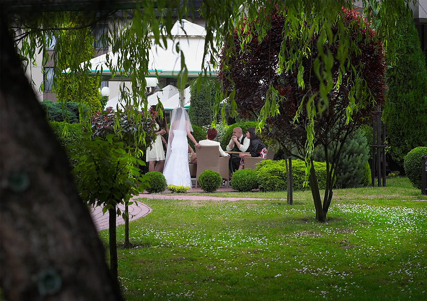 w ogrodzie - wesele