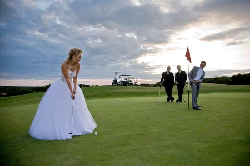 wesele na polu golfowym