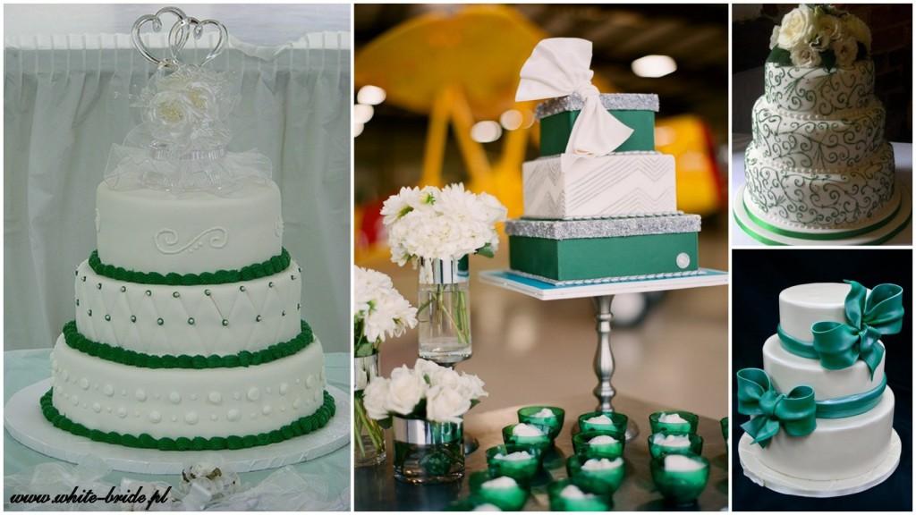 szmaragdowe torty weselne