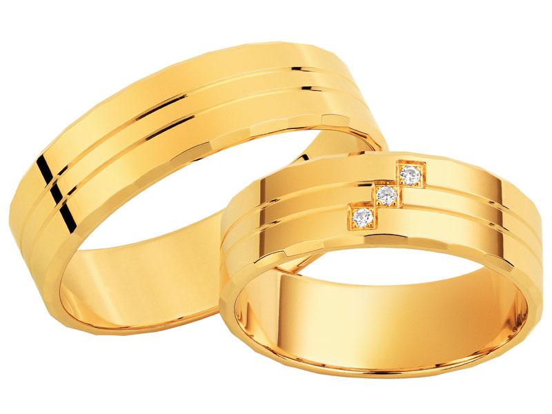 obrączki ślubne z żółtego złota apart