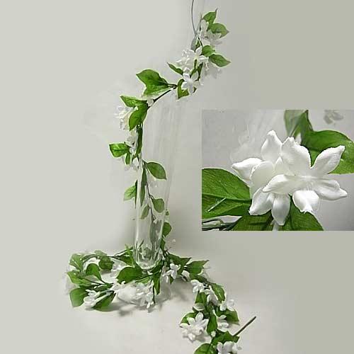 zielone-kwiaty girlanda kwiatowa
