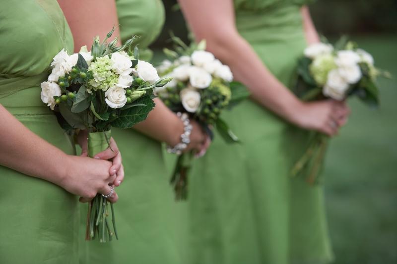 zielone suknie druhien