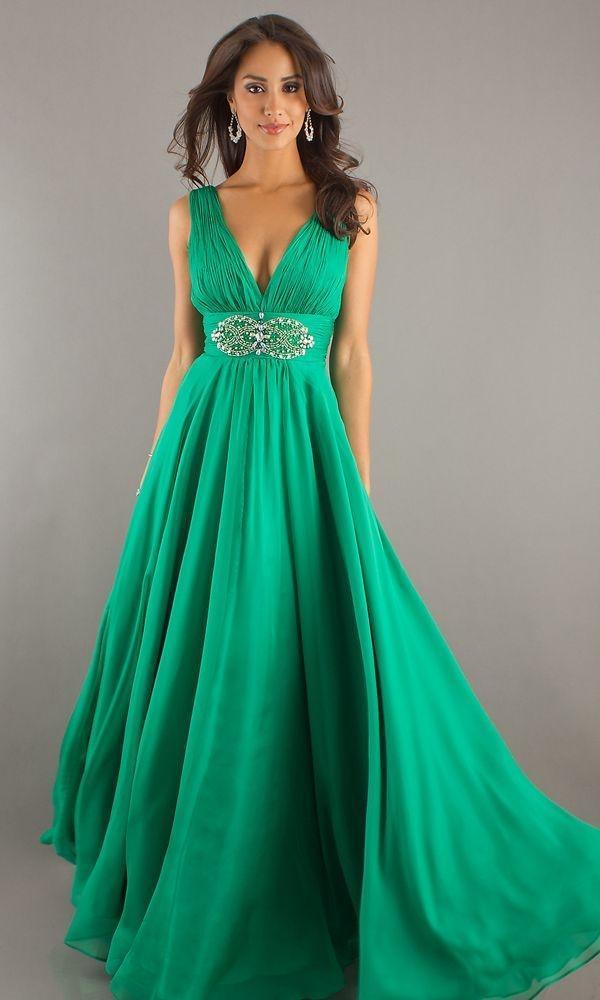 zielona suknia maxi