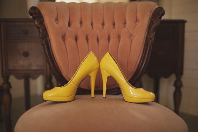 zółte buty panny młodej