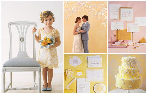 Żółte inspiracje na ślub