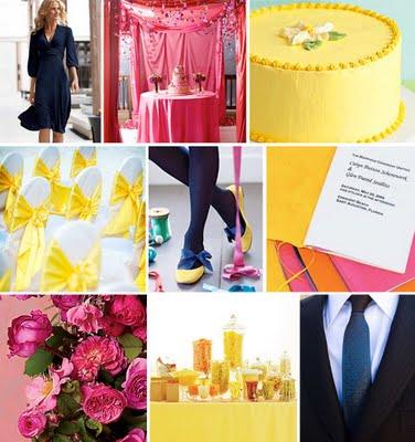 żółto-różowy ślub
