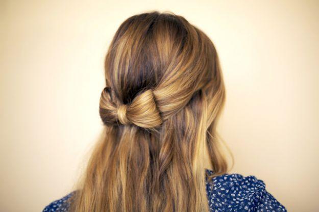 kokarda z włosów długich